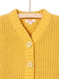 Camicia maniche lunghe in maglia gialla bambina MAMIXCAR1 / 21W901J2CARB106
