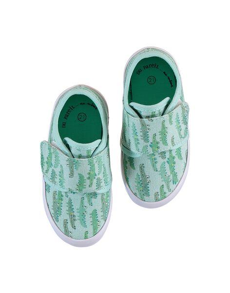 Light green SNEAKERS LBGVELCROCO / 21KK3842D16602