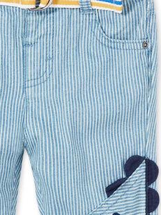Jeans a righe neonato con cintura LUCANPAN1 / 21SG10M1PANP272