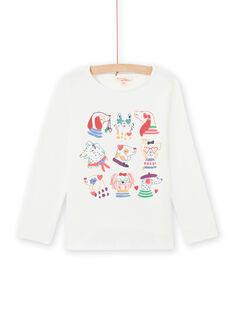 T-shirt maniche lunghe stampa fantasia bambina MAMIXTEE5 / 21W901J1TML001