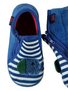 Babbucce velluto blu a righe neonato GBGBOTELE / 19WK38Z5D0A070