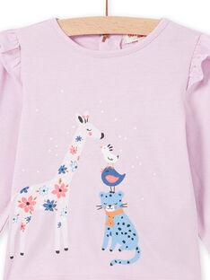 T-shirt rosa motivo fantasia neonata MIPLATEE / 21WG09O1TML326