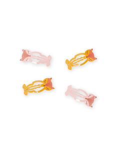 Set 4 fermagli cerbiatto assortiti bambina MYASAUCLIC1 / 21WI01T1BRT303