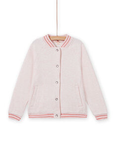 Giacca sportiva rosa melange bambina MAJOHAUJOG2 / 21W90112JGHD314
