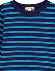 T-shirt Maniche lunghe a righe turchese GOJOTIRIB3 / 19W90242D32C200