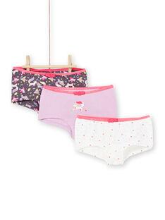 Set 3 culotte rosa, viola e bianche bambina LEFAHOT6 / 21SH1126SHYJ916