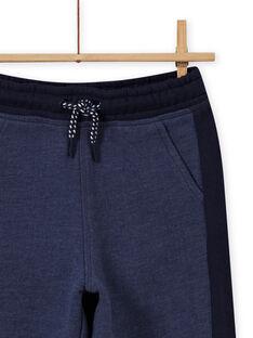 Pantaloni sportivi blu melange e navy bambino MOJOJOB4 / 21W90213JGB222