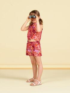 Shorts arancioni e rosa con stampa a fiori LATERSHORT2 / 21S901V3SHO001