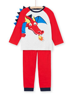 Pigiama bambino in jersey rosso motivo drago LEGOPYJDRA / 21SH1254PYJ502