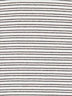 Body ecrù e blu a righe in cotone neonato LUPOEBOD / 21SG10Y1BOD001