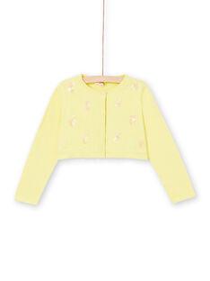 Cardigan a maniche lunghe con ananas in paillettes ricamate LAJAUCAR1 / 21S901O2CAR116