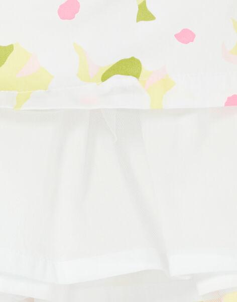 Gonna bianca e verde stampa a fiori LAJAUJUP2 / 21S901O1JUP000
