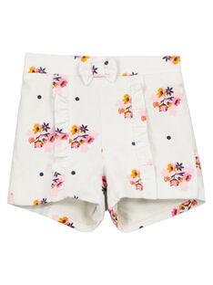 Shorts in velluto con stampa neonata GIBLASHO / 19WG09S1SHO218