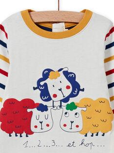 Body T-shirt multicolore con motivi pecore neonato MUMIXBOD2 / 21WG10J1BOD001