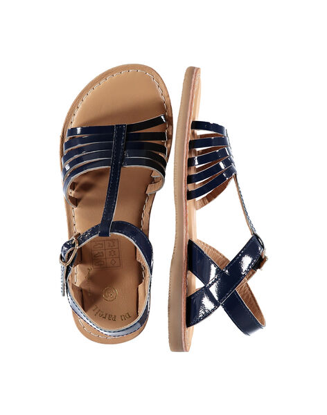 Sandali da città in pelle verniciata bambina FFSANDOLI5 / 19SK35CAD0E070