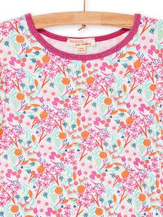 Abito rosa e verde stampa a fiori LAVIROB4 / 21S901U4ROB000