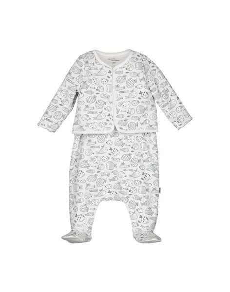 Completo salopette e cardigan neonato unisex FOU1ENS2 / 19SF0512ENS099