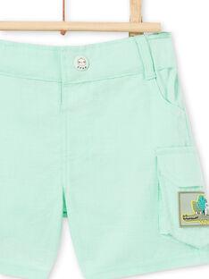 Bermuda verde acqua neonato LUVERBER2 / 21SG10Q2BERG621
