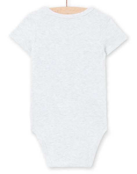 Body grigio melange con stampa neonato LEGABODTIG / 21SH14G4BDLJ920