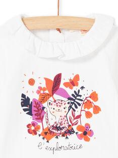 Body bianco e motivo colorato neonata MIPABOD / 21WG09H2BOD001