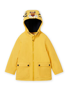 Impermeabile giallo con motivo tigre bambino MOGROIMP1 / 21W90251D59B116