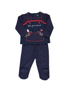 Baby girls' cotton pyjamas CEFIPYJFLE / 18SH1351PYJ099