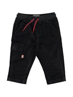 Baby boys' black velour trousers DUJOPAN1 / 18WG1031PAN090