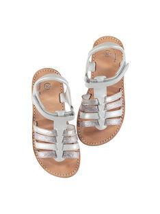 Sandali da città cinturini in pelle bambina FFSANDMIN1 / 19SK35C1D0E000