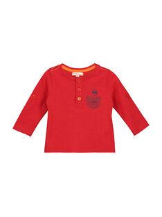 T-shirt collo alla tunisina neonato FUJOTUN3 / 19SG1033TMLF505