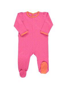 Baby girls' cotton sleepsuit CEFIGREJO / 18SH1353GRE099