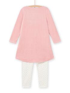 Camicia da notte rosa antico con motivi cigni fantasia bambina MEFACHUVEL / 21WH1192CHN303