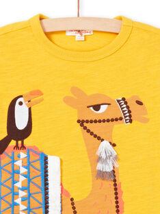 T-shirt a maniche corte gialla bambino LOTERTI2 / 21S902V5TMCB114