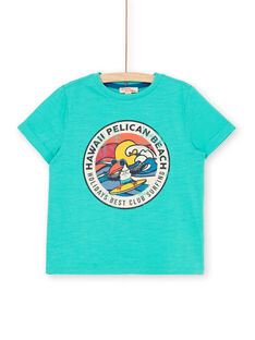 T-shirt maniche corte verde bambino LOBONTI6 / 21S902W1TMC600
