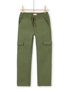 Pantaloni cargo verdi bambino LOJOPAMAT2 / 21S90242PANG631