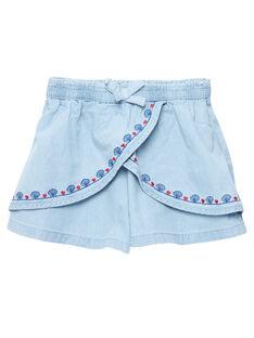 Pantaloni culotte in denim light JACEASHORT / 20S901N2SHO721
