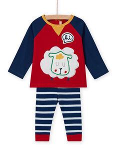 Completo T-shirt con motivo pecora e leggings a righe neonato MUMIXENS / 21WG10J1ENS505