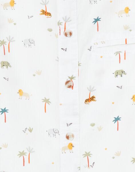 Camicia bianca con stampa bambino LOJAUCHEM2 / 21S902O1CHM000