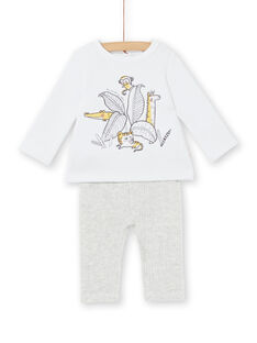 Completo felpa imbottita e leggings in velluto a costine neonato unisex LOU1ENS5 / 21SF04H2ENS000