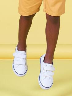 Scarpe da tennis tela tinta unita bambino FGVELWHITE / 19SK36C2D16000