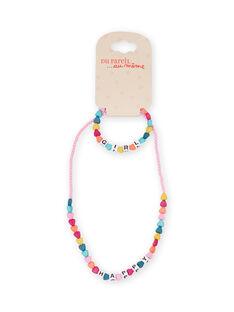Collana perline cuori multicolore bambina MYAJOCOU1 / 21WI01S1CLI961
