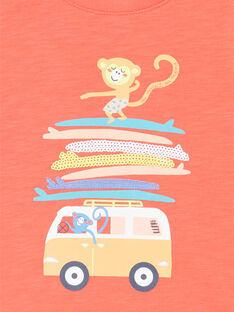 T-shirt maniche corte rossa neonato LUBONTI2 / 21SG10W4TMCF504