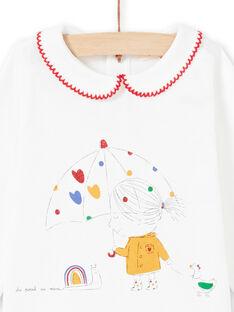 T-shirt ecrù neonata MIMIXBRA / 21WG09J1BRA001
