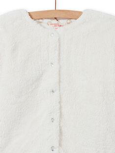 Cardigan double face in finta pelliccia bambina MAJOCARF2 / 21W90111CAR001