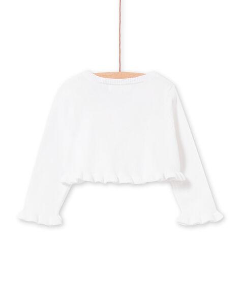 Cardigan bianco e celeste neonata LIBALCAR / 21SG09O1CAR000