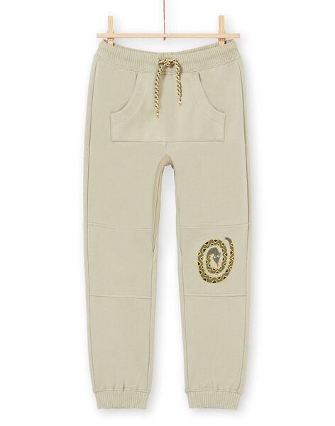 Pantaloni sportivi kaki bambino MOKAJOG1 / 21W902I1JGB612