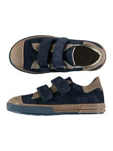 Sneakers da città bicolore in crosta di pelle bambino FGBASIK / 19SK3636D3F070