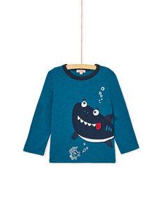 Dark Turquoise LONGSLEEVE T-SHIRT KOECOTEE3 / 20W902H1D5IC217