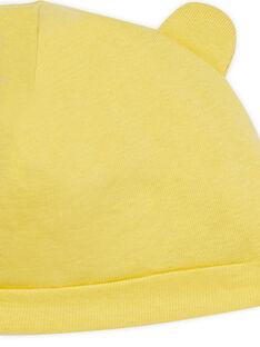 Cuffietta neonato gialla con orecchie LOU1BON2 / 21SF42H3BNA103