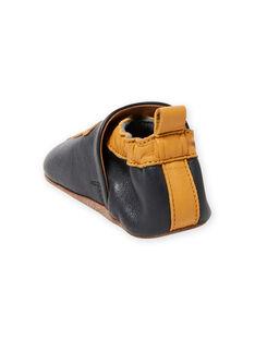 Pantofole in pelle blu motivi tigri neonato MUCHOLEO / 21XK3823D3S070