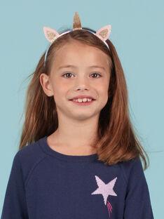 Cerchietto unicorno glitterato bambina MYAJOSERR3 / 21WI01S3TETP275